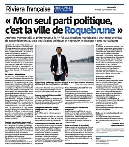 Anthony Malvault, agir pour Roquebrune-Cap-Martin
