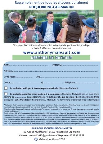 Agir Pour Roquebrune-Cap-Martin, Anthony Malvault