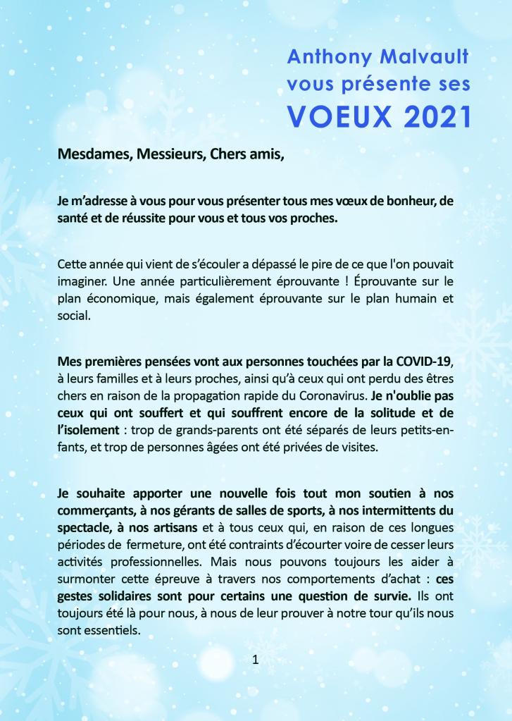 Anthony Malvault présente ses vœux à la population ! Menton, Roquebrune-Cap-Martin, Castellar, Gorbio, Beausoleil, Eze, Contes,