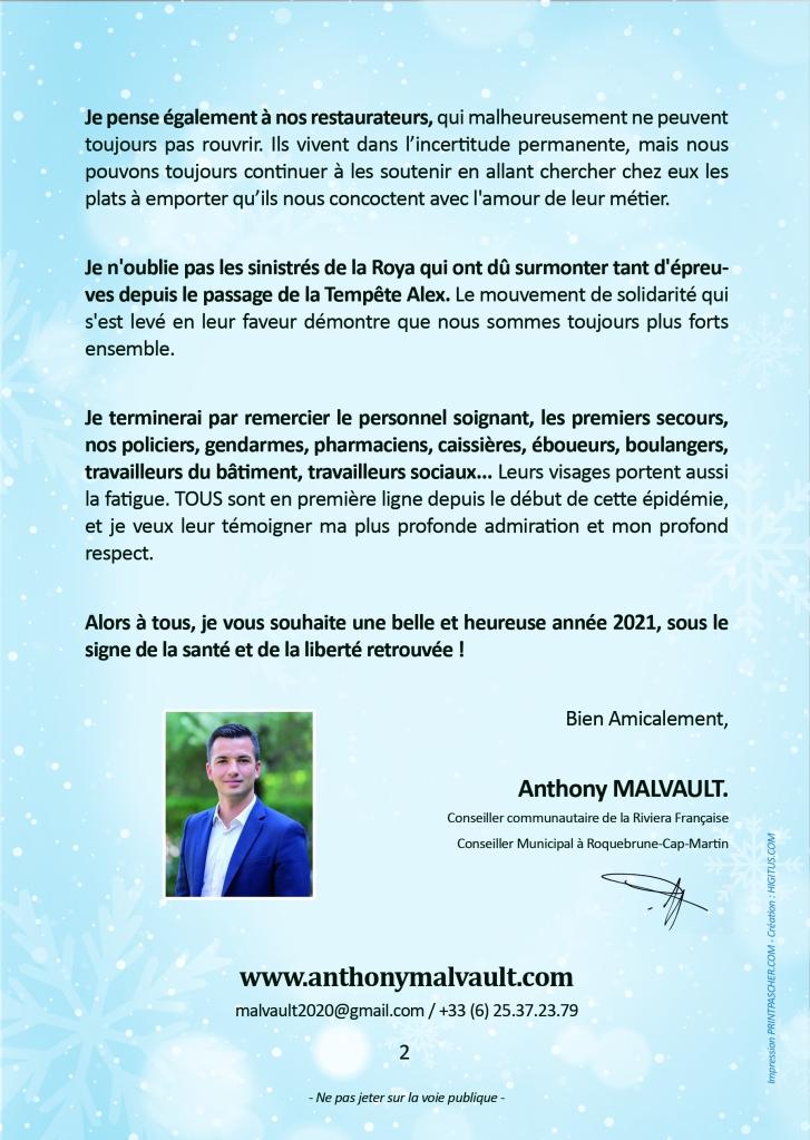 Anthony Malvault présente ses vœux à la population ! Roquebrune-Cap-Martin, Menton, Ville de Beaulieu, Eze, Cap d'Ail, Contes, Gorbio